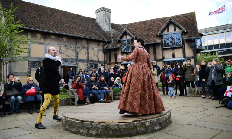 Selfies, puns and codpieces galore at the Shakespeare street festival