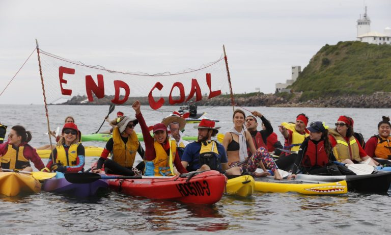 Dozens arrested as anti-fossil fuel protesters join Australian coal blockade