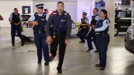 Global dance-off as NZ police, NYPD embrace 'running man' challenge