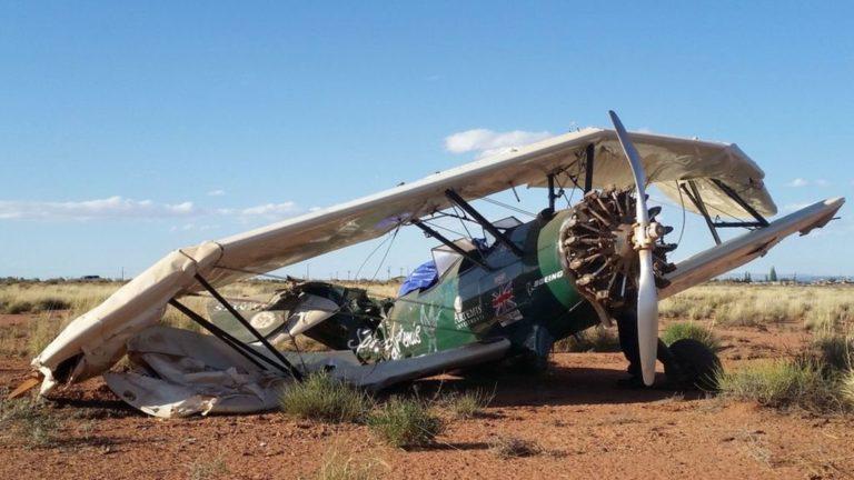 Biplane adventurer Tracey Curtis-Taylor crashes in Arizona desert – BBC News