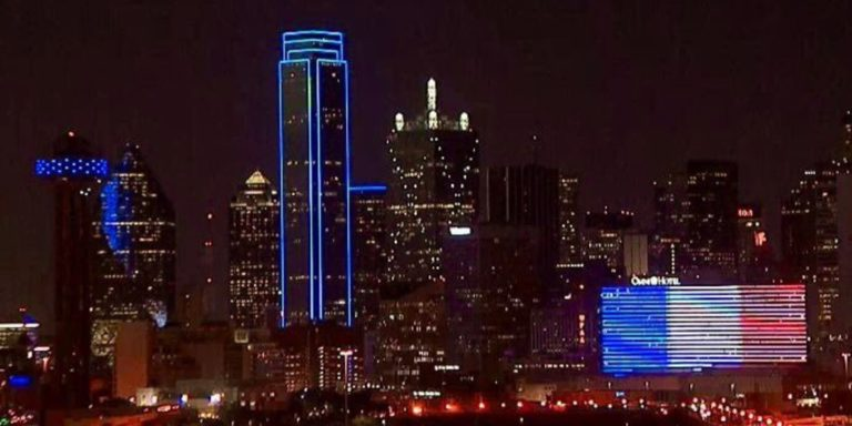 Dallas Lights Up In Solidarity With Nice