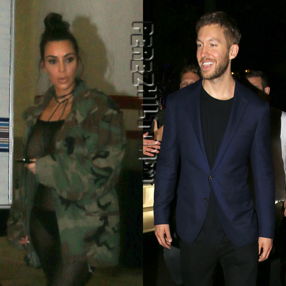 Calvin Harris Parties It Up With Kim Kardashian After They BOTH Shade Taylor Swift!
