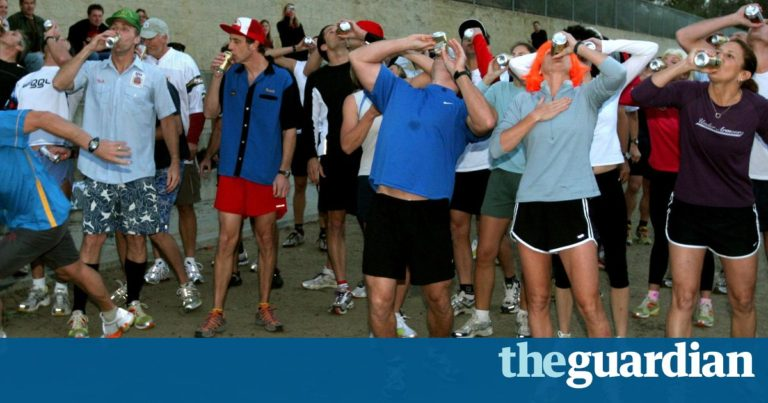 The Beer Mile  like the Olympics but with boozing