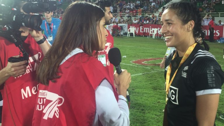 Black Ferns celebrate Dubai Sevens success with haka